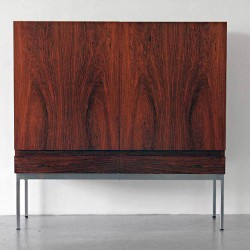 Rosewood highboard Waeckerlin B40 modern Behr German 50s