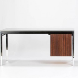 Aluminum Rosewood Steel Desk Waeckerlin Idealheim German modern 50s