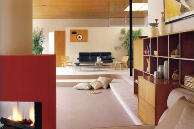 Case Study #9 House Shulman Eames Architecture Living Room