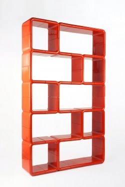 umbo shelving directional new york Kay Leroy ruggles space age plastic